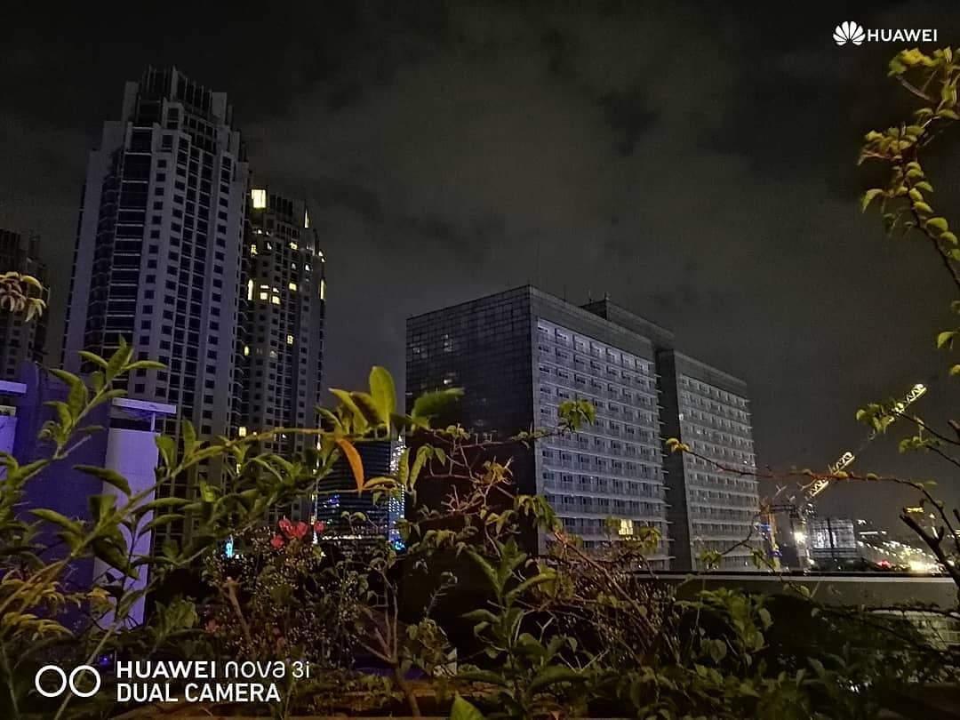 hasil kamera malam Huawei Nova 3i