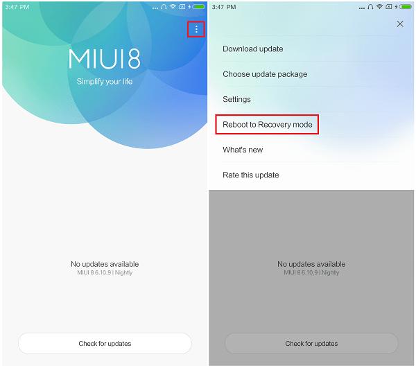 update MIUI recovery