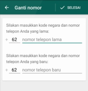 Cara ganti nomor Whatsapp tanpa hapus akun