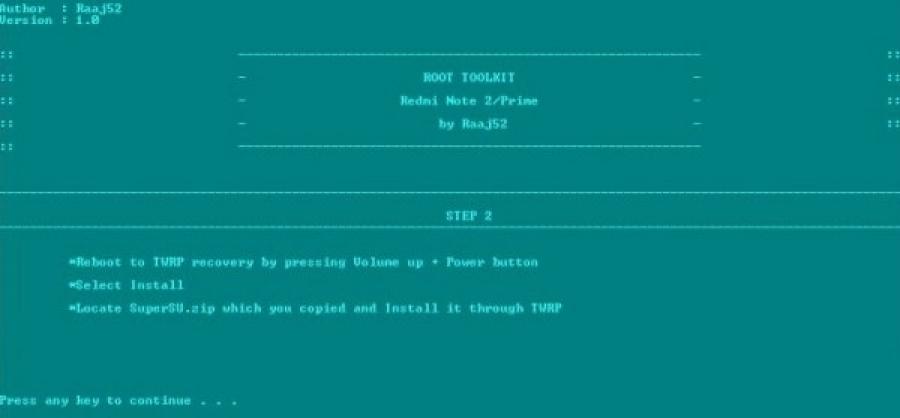 [TOOLS] Flash TWRP dan Root Redmi Note 2 semua jenis ROM