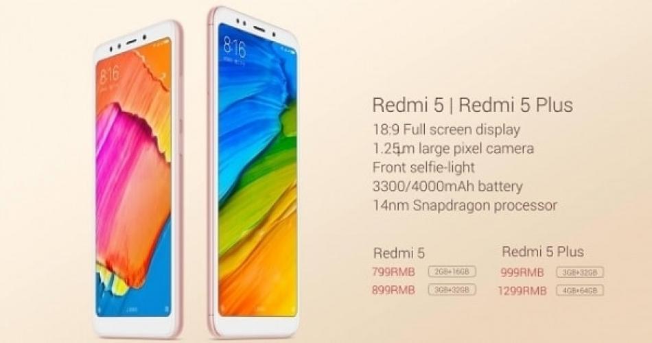 Rilis Xiaomi Redmi 5/5 plus dengan Snapdragon 625 hanya 1 jutaan