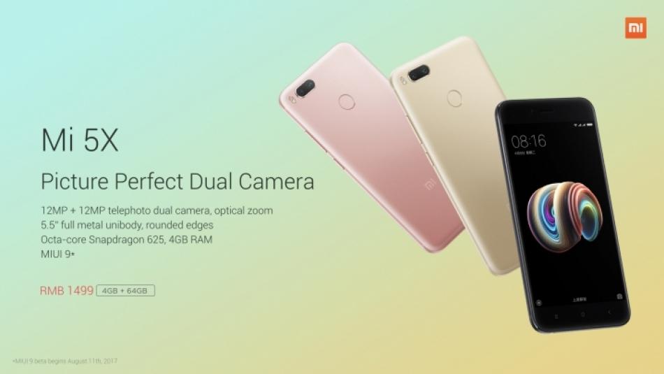 Mi 5x: Screen 5,5 inch dengan dual kamera serta Snapdragon 625